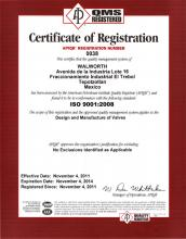 ISO-9001 Certificate by American Petroleum Institute